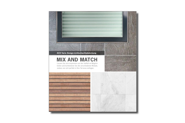 Prospekt Vario Design Lichtschachtabdeckung Mix and Match