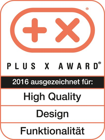 Plus X Award High Quality Design Funktionalitaet